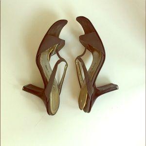 Enzo Angiolini Leather & Suedes heeled sandal